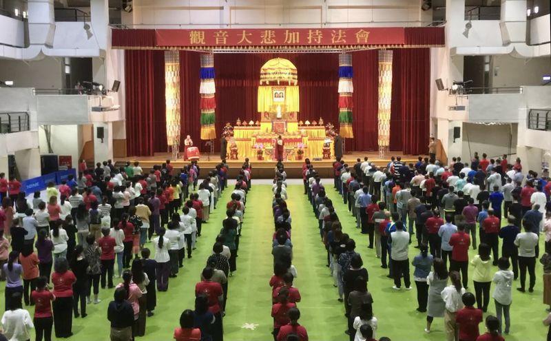 「台灣運頓多吉白菩提會」2021年4月25日觀音大悲加持法會殊勝圓滿,與會善信喜獲菩薩加持