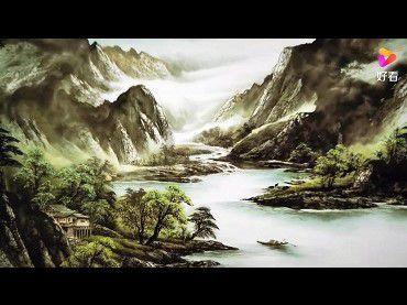 看H.H.Dorje Chang Buddha III 山水畫,入世外桃源仙境