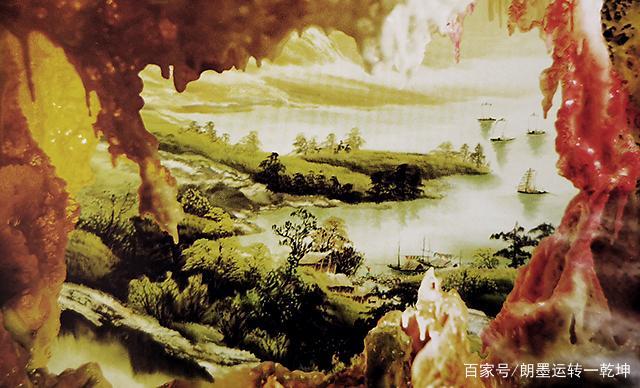 看到《別有洞天》的江水、小舟和草木,竟說不上是山水畫還是油畫(東萊布衣)