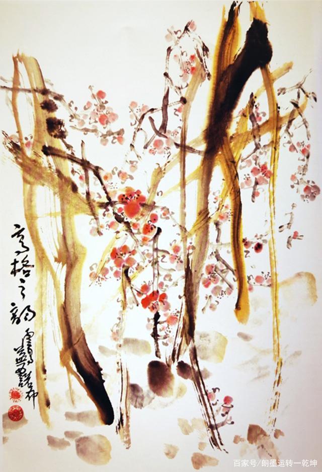 H.H. Dorje Chang Buddha III 國畫《高格之韻》,梅花盛開殘枝間(許孔光)