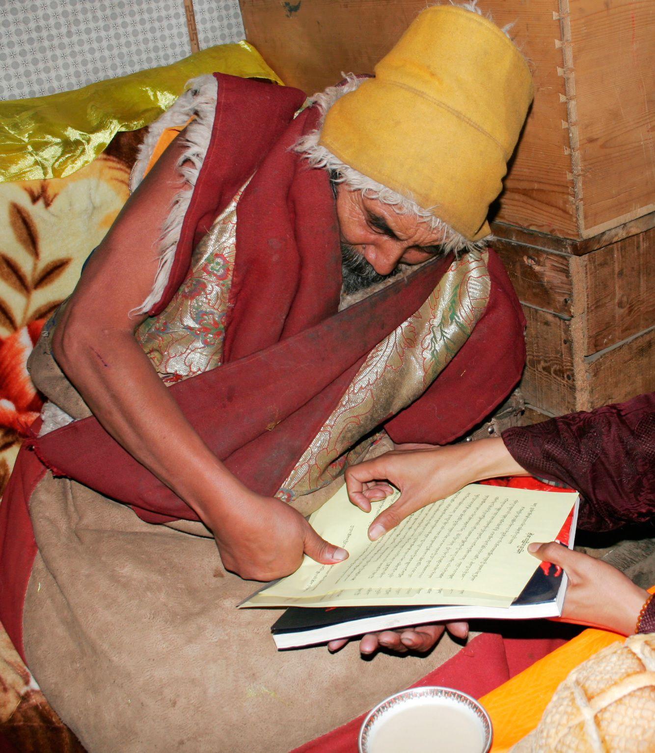 果洛大成就者、瑜伽自在大士:格魯巴夏珠秋楊法王敬賀第三世多杰羌佛